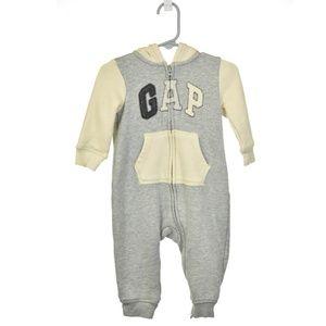 Baby Gap Gray & Cream Cotton Onesie
